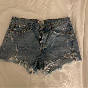 Agolde high waisted denim shorts